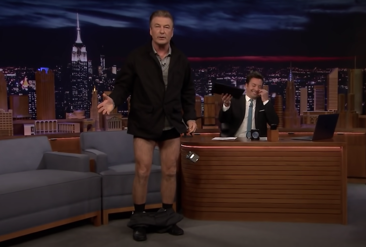 "Alec Baldwin on ""The Tonight Show"" in 2019"