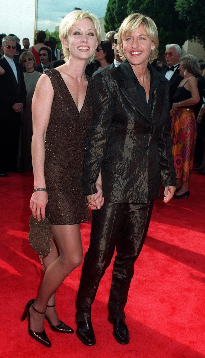 Anne Heche and Ellen DeGeneres at the 1997 Emmy Awards