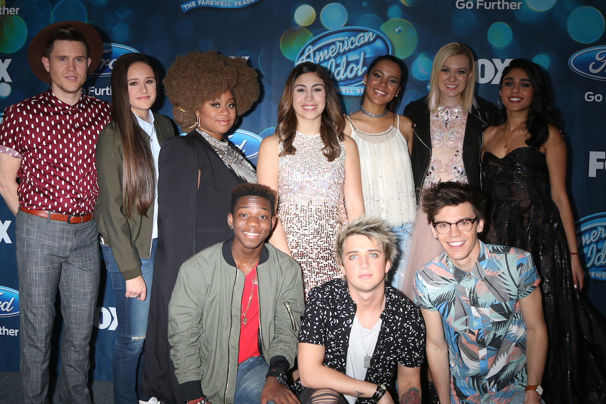 """Avalon Young with other """"American Idol"""" finalists in February 2016"""