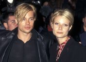 """Brad Pitt and Gwyneth Paltrow at the premiere of """"The Devil's Own"""" in 1997"""