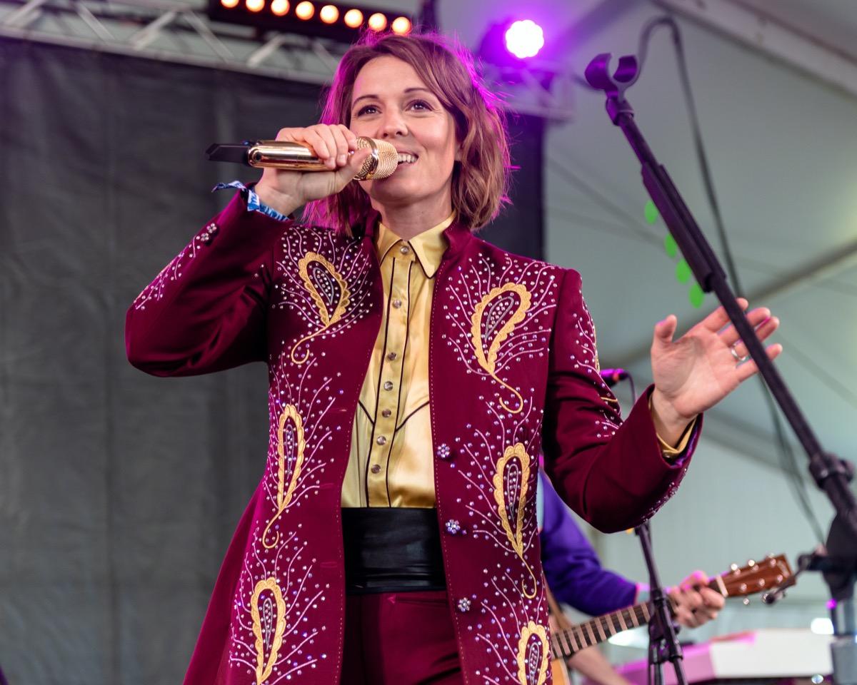 Brandi Carlile performing in 2019