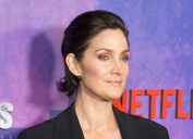 """Carrie-Anne Moss at the """"Jessica Jones"""" season 2 premiere in 2018"""