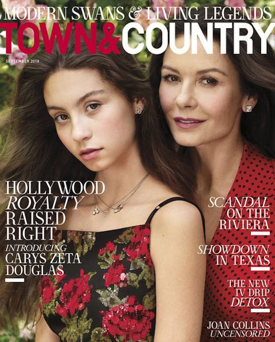 """Carys Douglas and Catherine Zeta-Jones on the cover of """"Town & Country"""""""