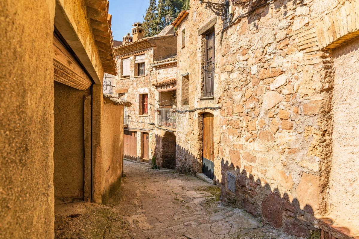 Ancient street in Mura, Catalonia, Spain