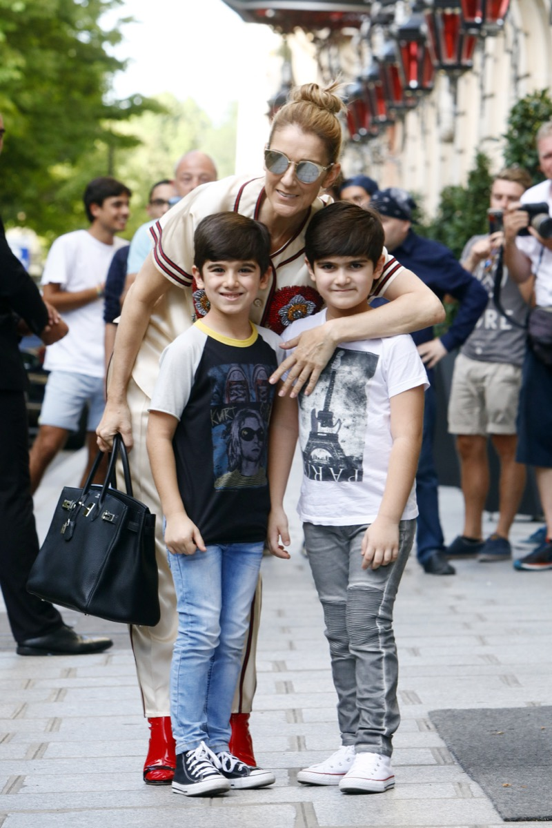 Celine Dion and twin sons