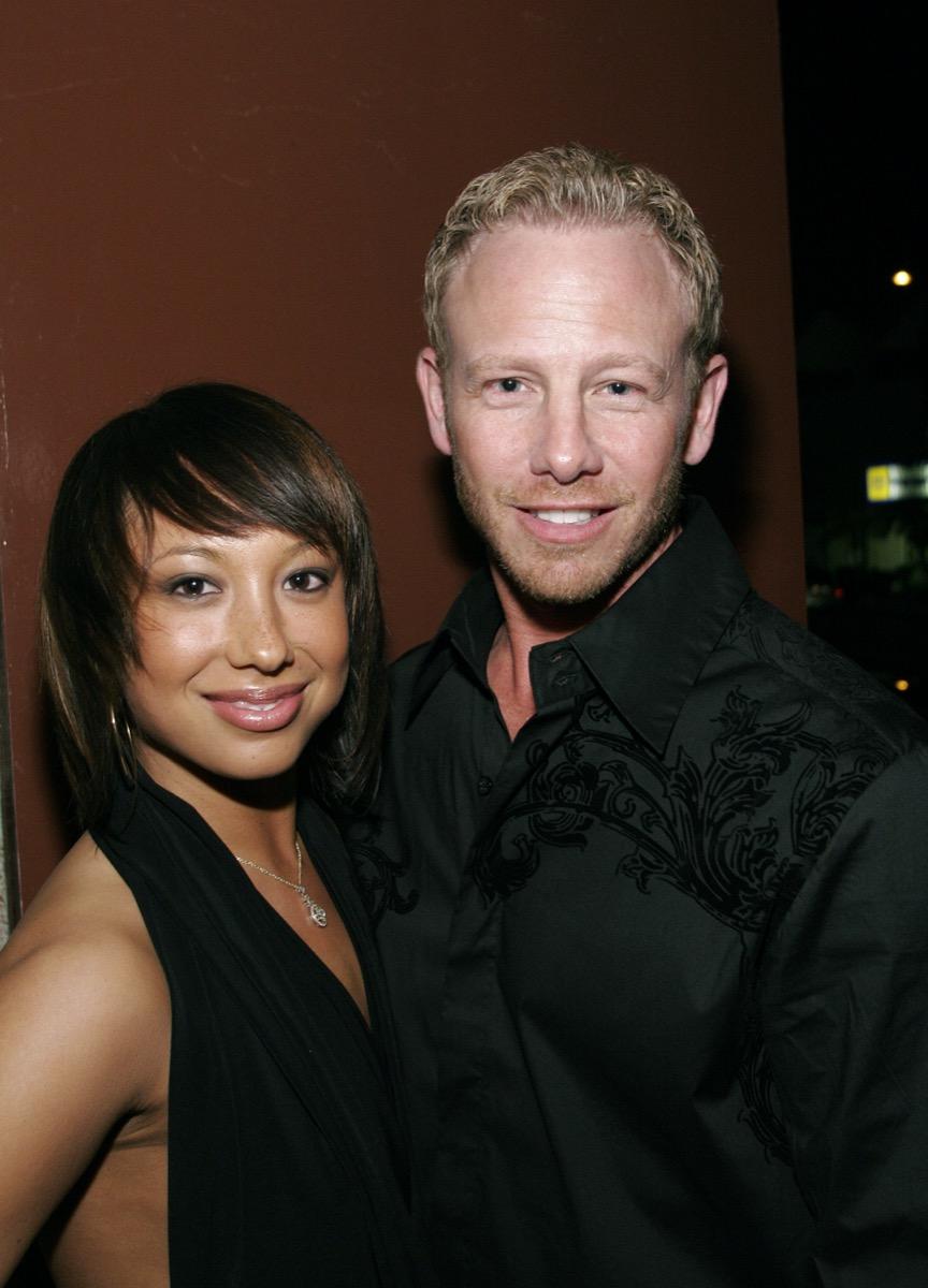 Cheryl Burke and Ian Ziering in 2007