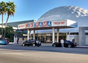 The Cinerama Dome movie theater photographed in 2016