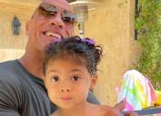Dwayne Johnson and daughter Tiana