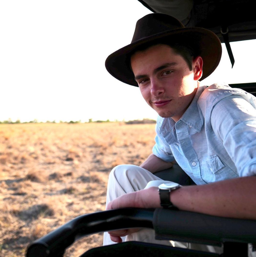 Dylan Douglas in Botswana in a photo from Instagram