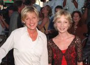 """Ellen DeGeneres and Anne Heche at the premiere of """"Contact"""" in 1997"""