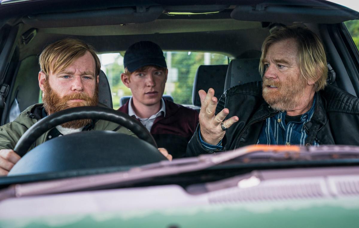 Brian Gleeson, Domhnall Gleeson, and Brendan Gleeson in Frank of Ireland