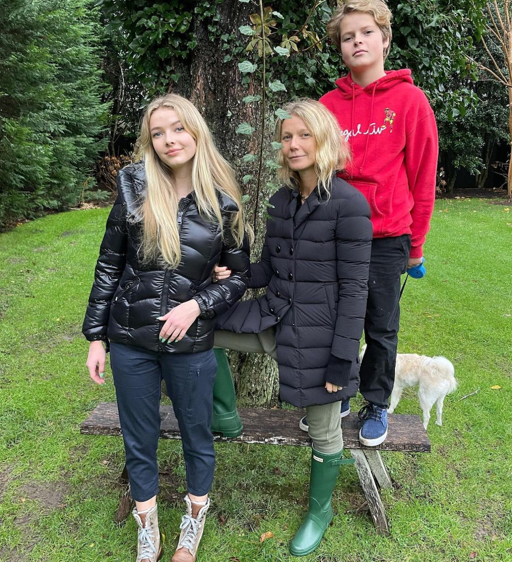 Apple Martin, Gwyneth Paltrow, and Moses Martin