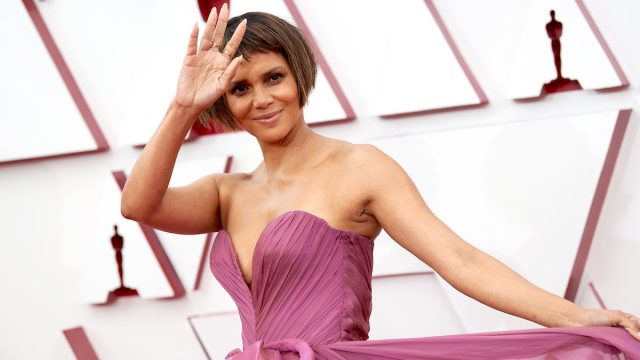 Halle Berry on the 2021 Oscars red carpet