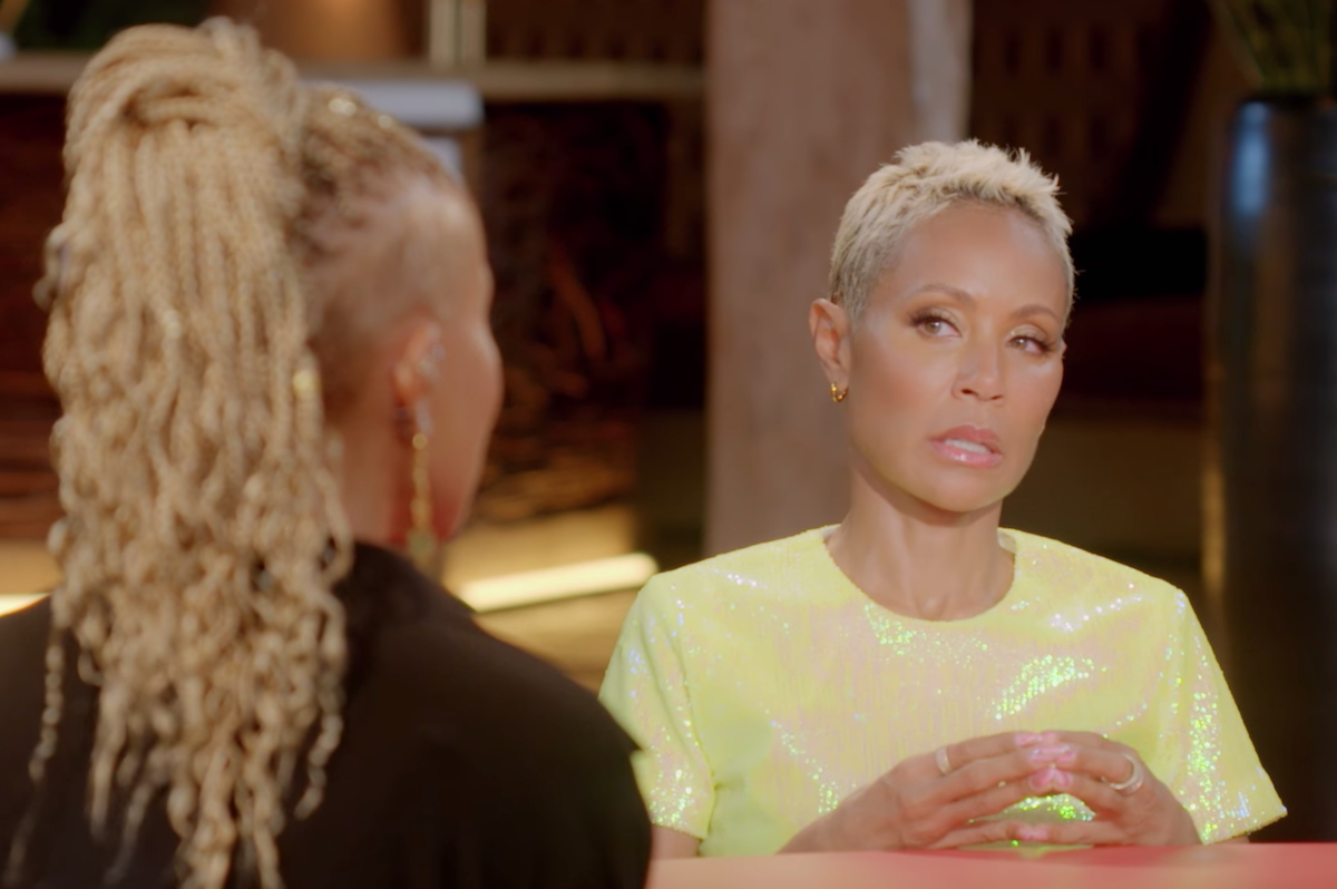 """Jada Pinkett Smith on """"Red Table Talk"""" in March 2021"""
