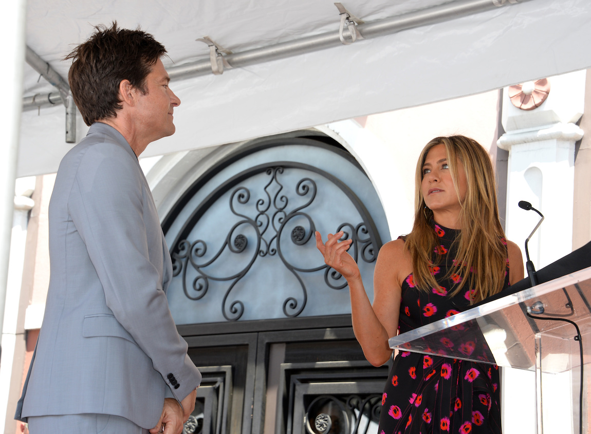 Jason Bateman and Jennifer Aniston at Bateman's Hollywood Walk of Fame ceremony in 2017