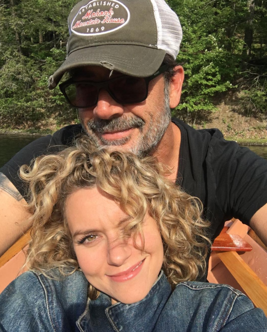 Jeffrey Dean Morgan and Hilarie Burton in a selfie from Instagram
