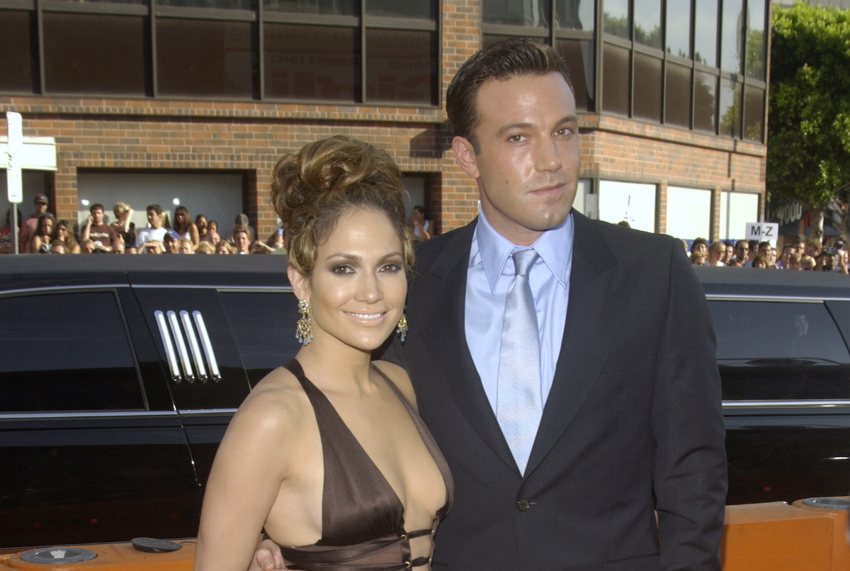 """Jennifer Lopez and Ben Affleck at the premiere of """"Gigli"""" in 2003"""