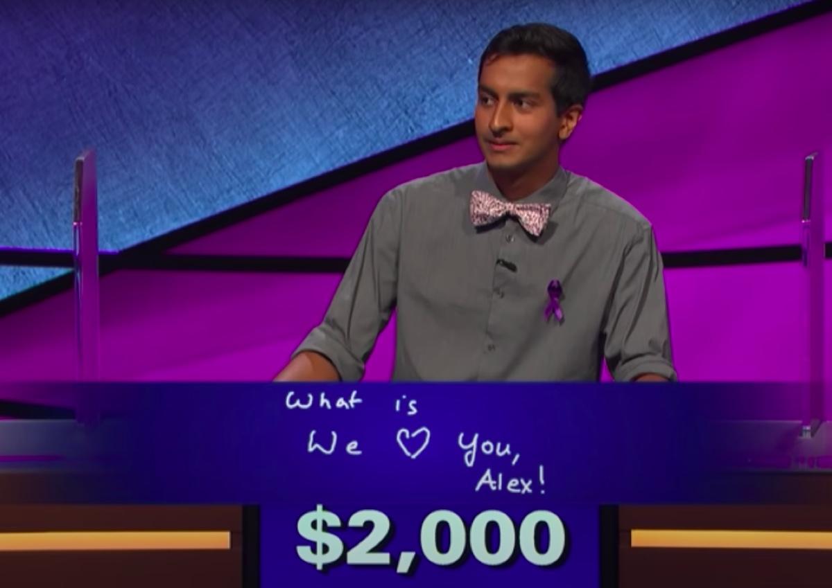 Dhruv Gaur Final Jeopardy tribute to Alex Trebek