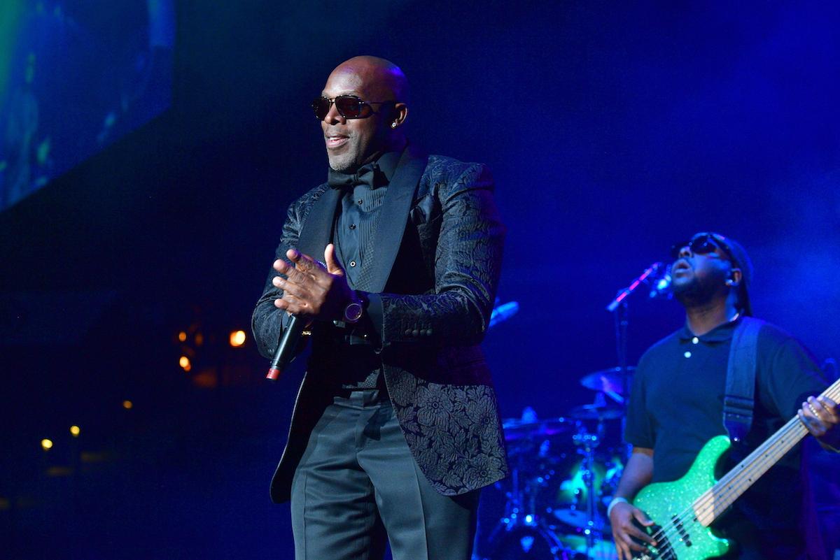 Joe performing at the R&B Super Jam in 2017
