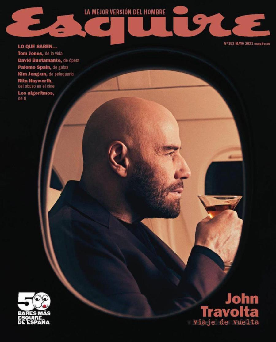 """John Travolta on the cover of """"Esquire"""" Spain"""