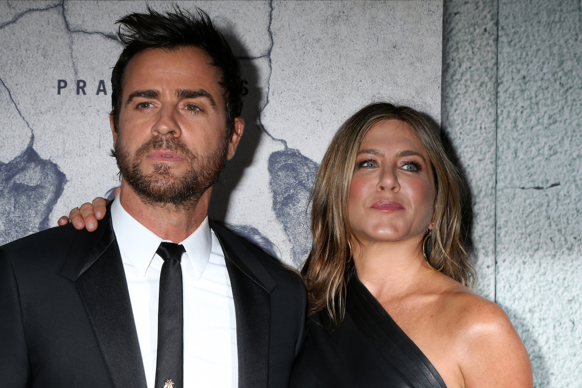 """Justin Theroux and Jennifer Aniston at the premiere of """"The Leftovers"""" season 3 in 2017"""