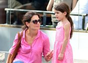 Katie Holmes and Suri Cruise in 2012
