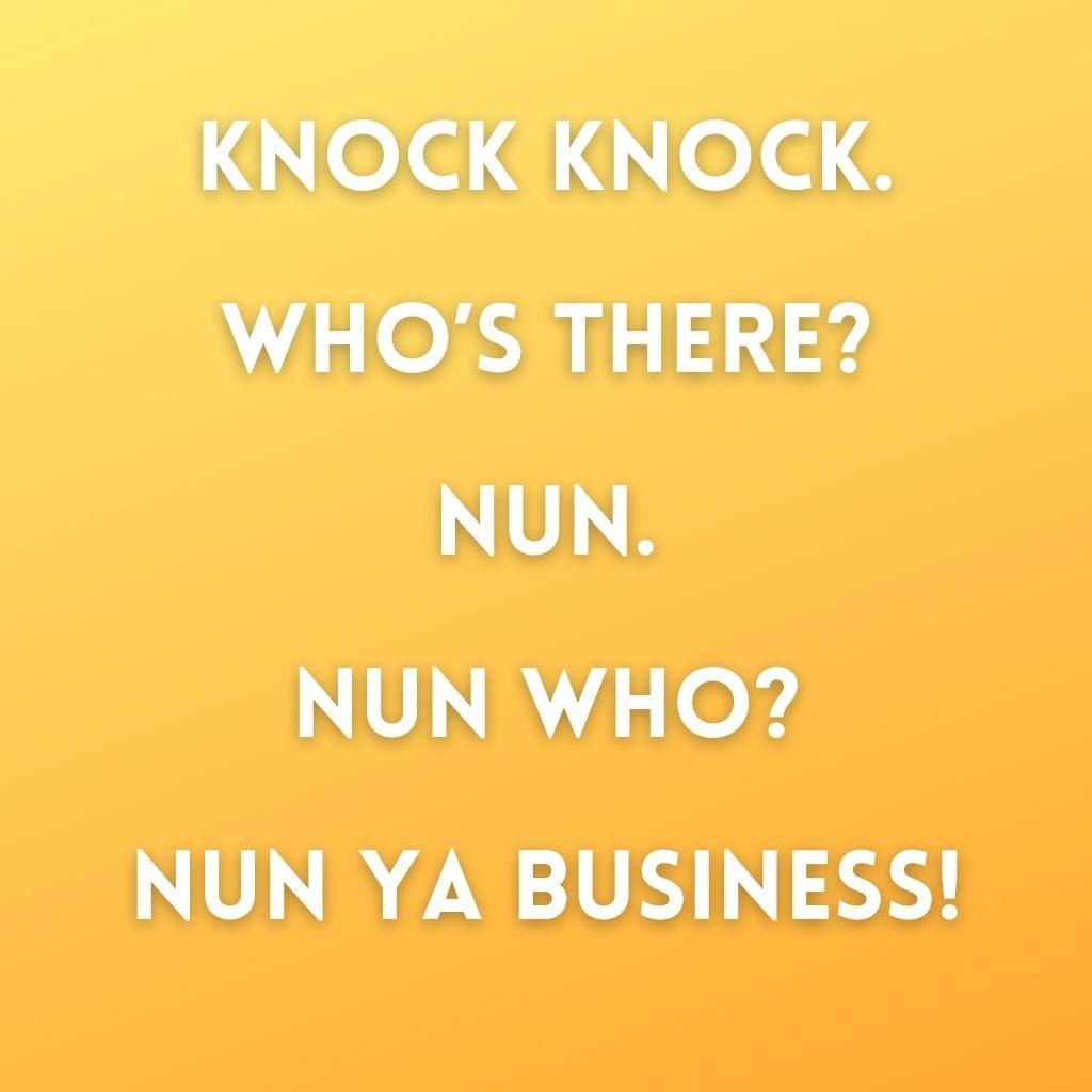Knock Knock Nun Joke