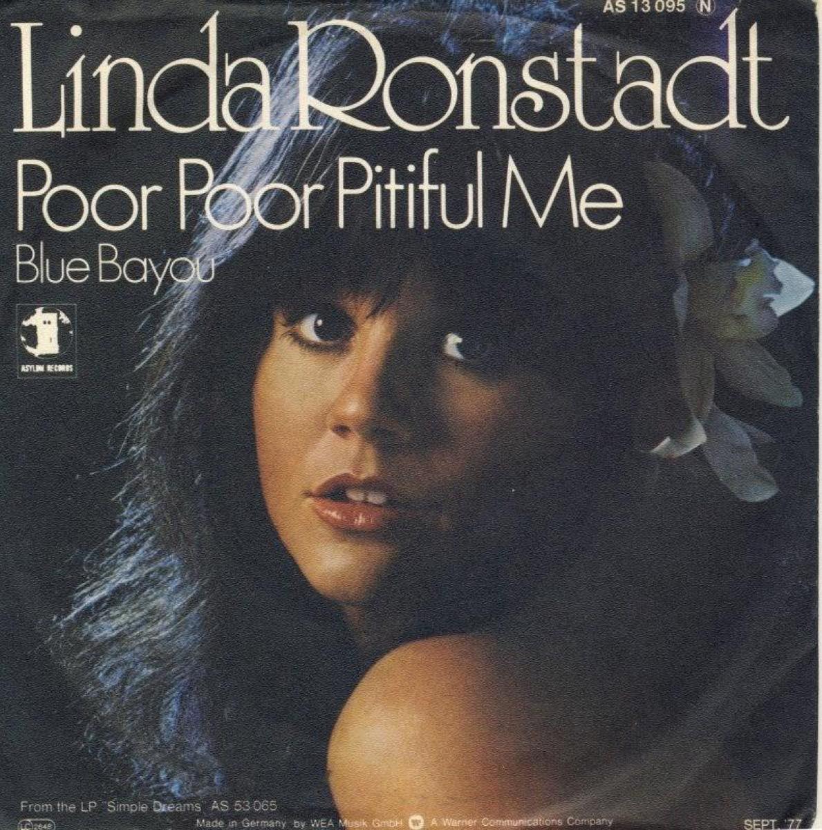 """Linda Ronstadt """"Poor Poor Pitiful Me"""" Album Cover"""