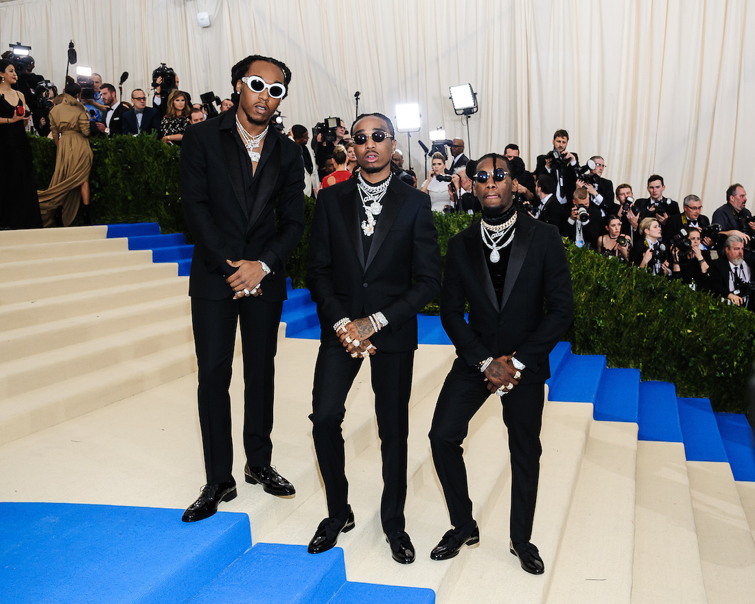 Migos at the Met Gala in 2017