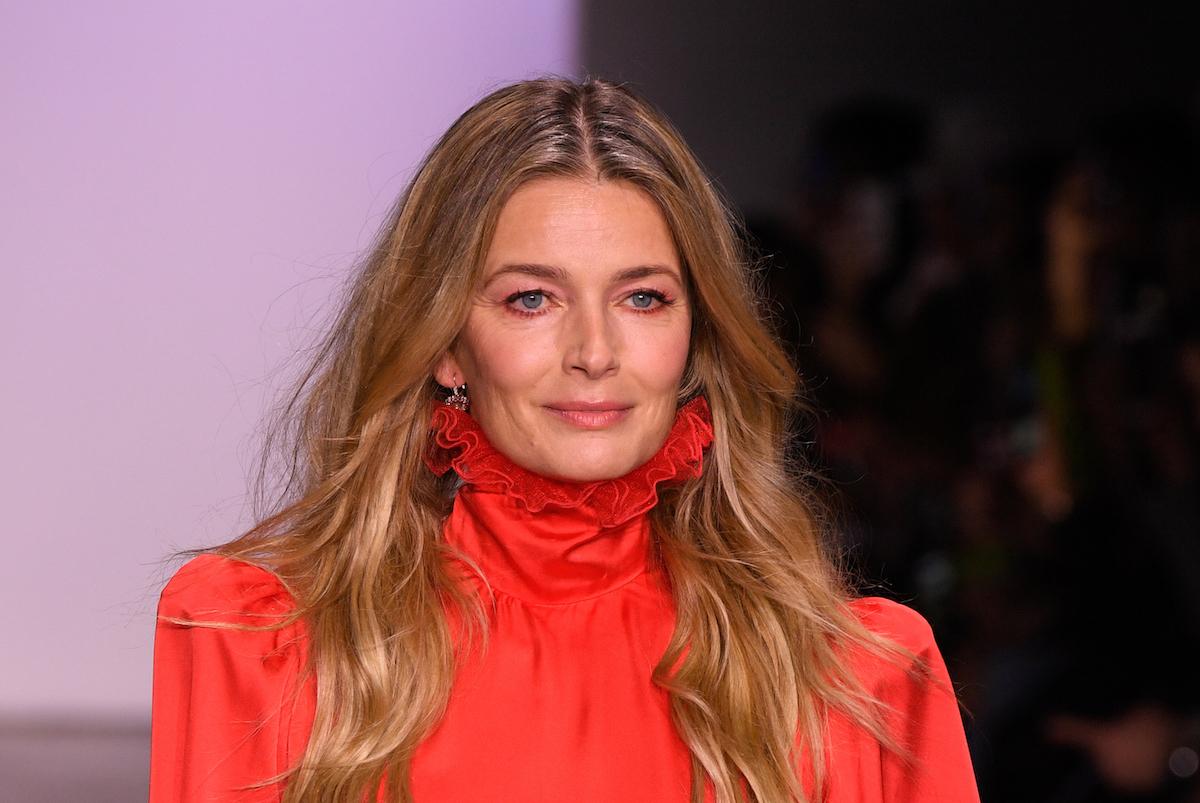 Paulina Porizkova on the Jiri Kalfar runway during New York Fashion Week in 2019