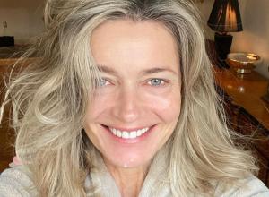 Paulina Porizkova in a selfie from Instagram