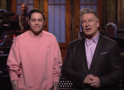 """Pete Davidson and Alec Baldwin on """"SNL"""" in 2017"""
