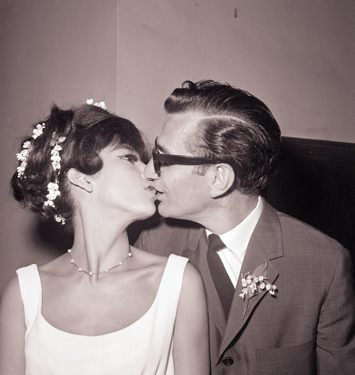 Rita Moreno and Leonard Gordon after their wedding