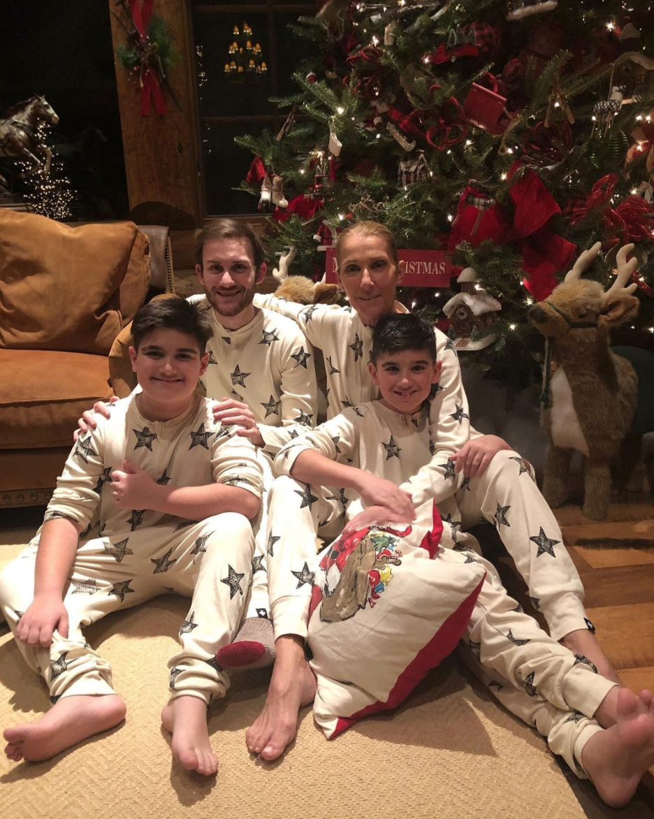 Celine Dion and sons christmas