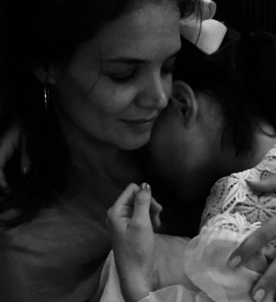 Katie Holmes with young Suri Cruise on Instagram