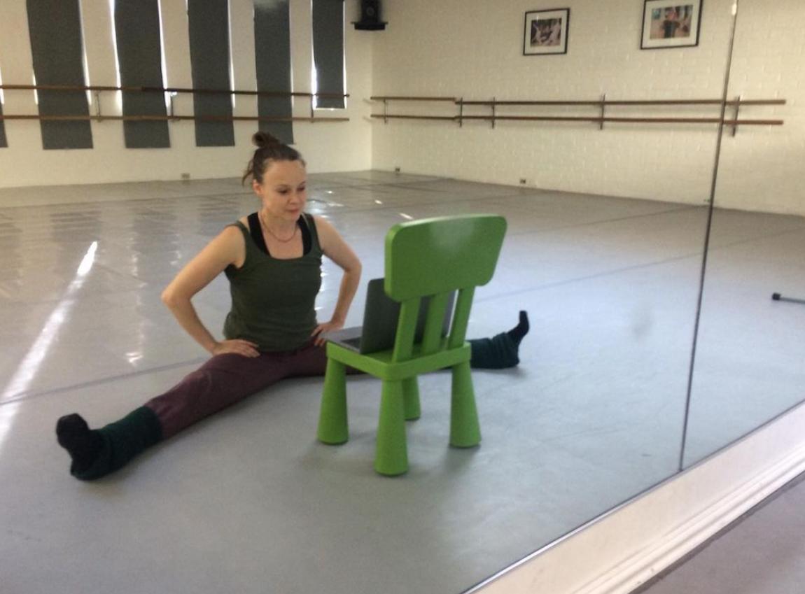 Tami Stronach in a dance studio
