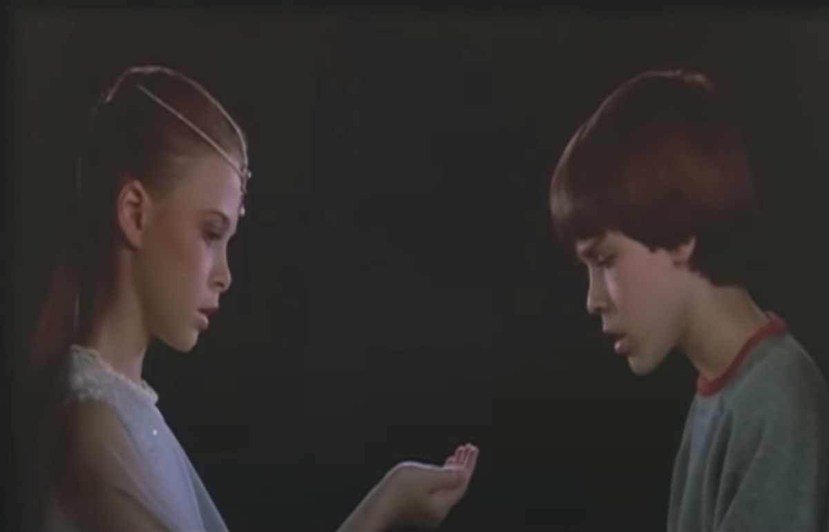"""Tami Stronach and Barret Oliver in """"The NeverEnding Story"""""""