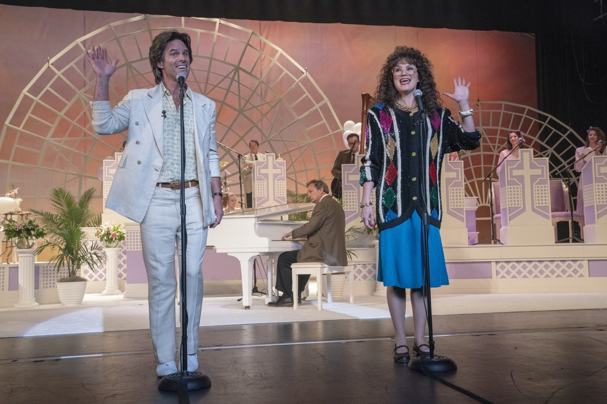 Walton Goggins and Jennifer Nettles in The Righteous Gemstones