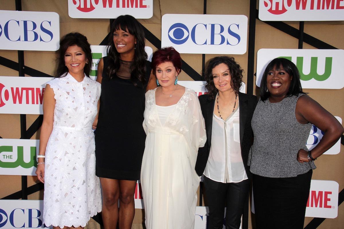 Julie Chen, Aisha Tyler, Sharon Osbourne, Sara Gilbert, and Sheryl Underwood at the CBS, Showtime, CW 2013 TCA Summer Stars Party