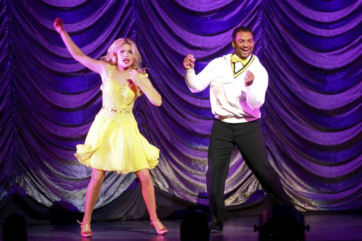 """Whitney Caron and Alfonso Ribeiro performing on the """"DWTS"""" tour"""