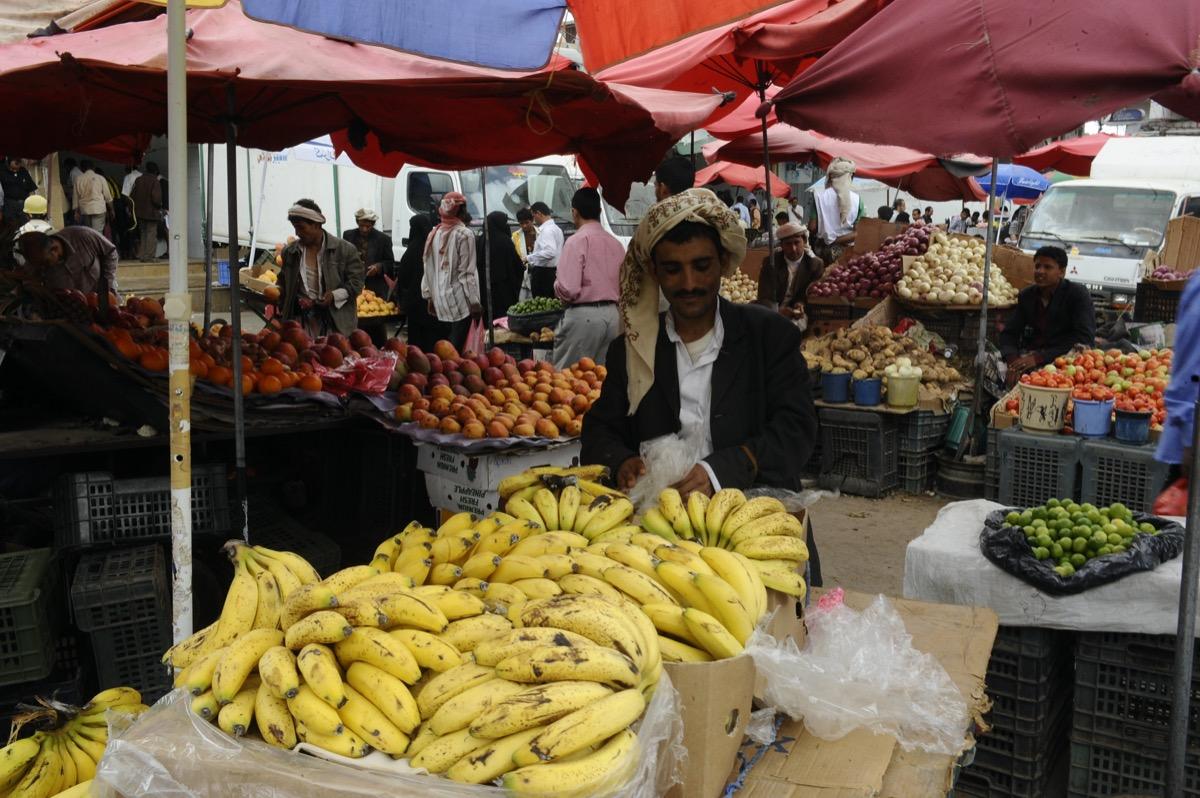 Street market in Yemen