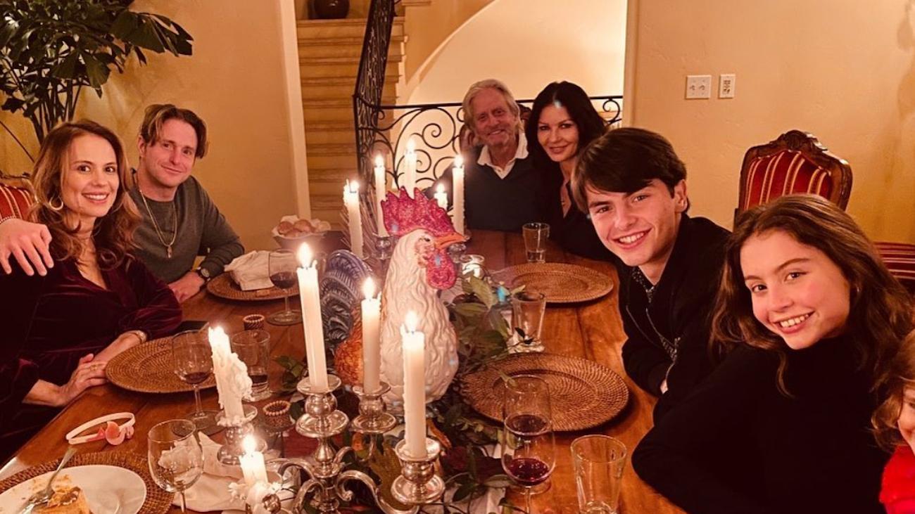 Catherine Zeta-Jones and Michael Douglas' family on Thanksgiving 2020