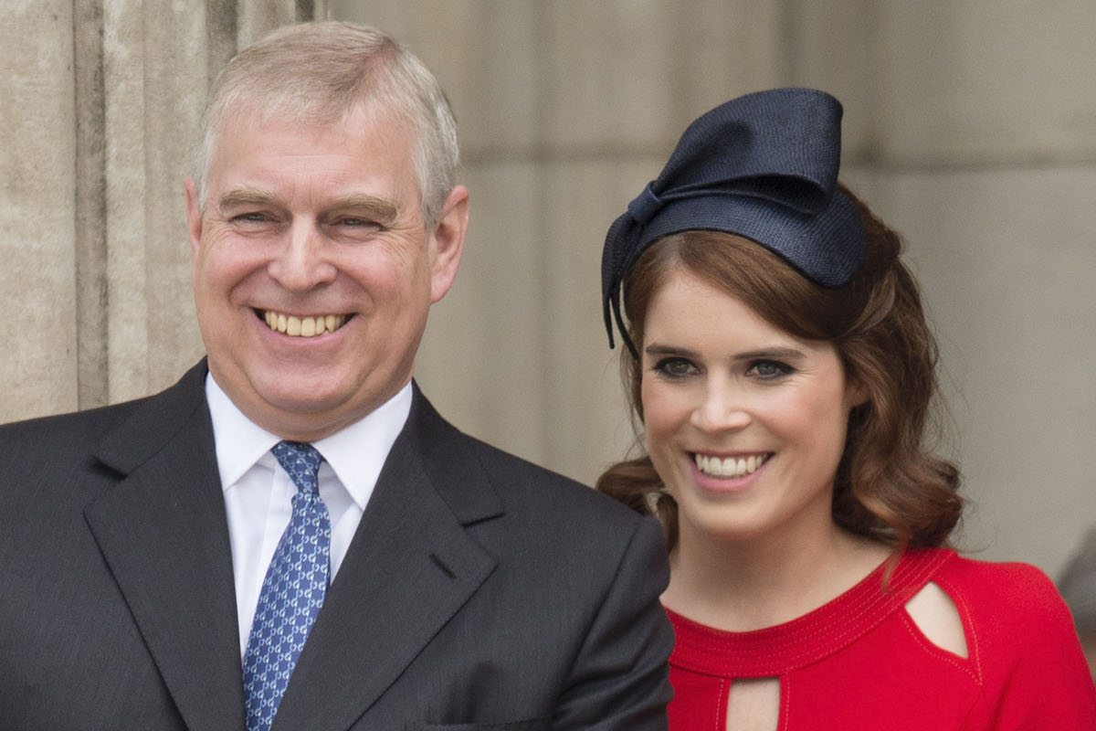 Prince Andrew, Duke of York with Princess Eugenie at a National Service of Thanksgiving as part of the 90th birthday celebrations for The Queen at St Paul's Cathedral on June 10, 2016 in London, England