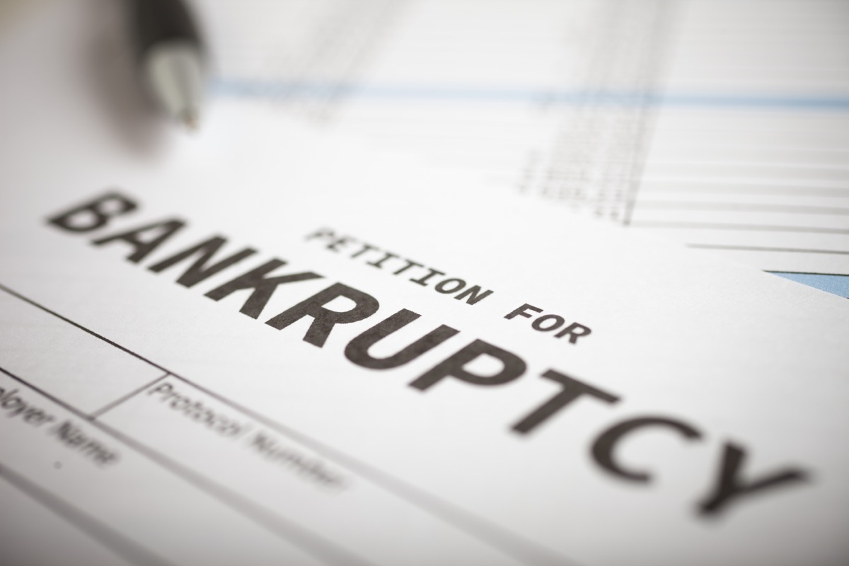 petition for bankruptcy form