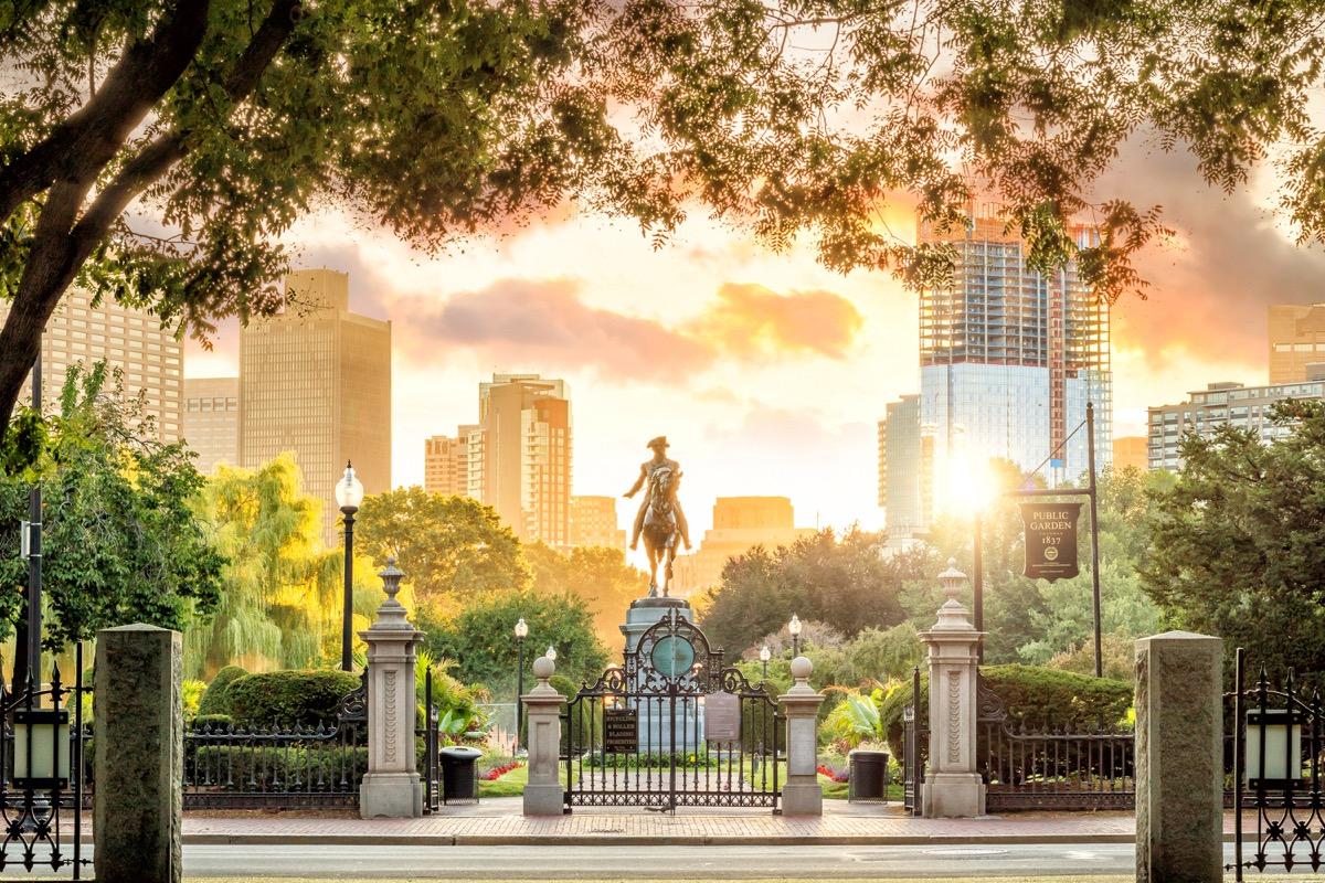 public garden boston, massachusetts