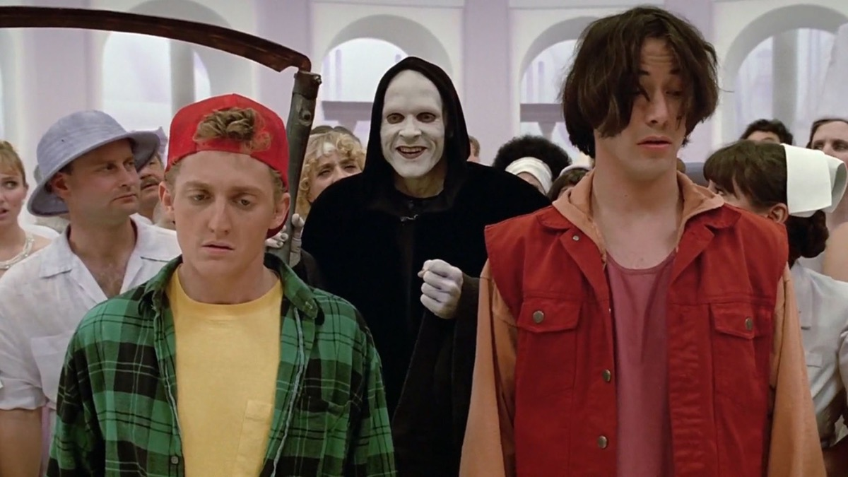 keanu reeves in bill and ted's bogus journey