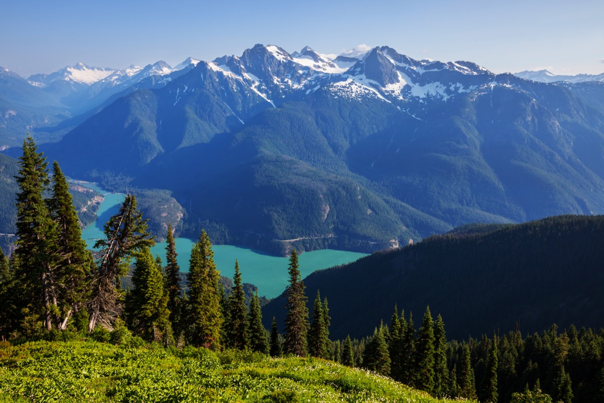 diablo lake, Washington state, scenery