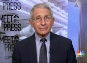 Dr. Anthony Fauci speaks on NBC's Meet the Press on April 18, 2021