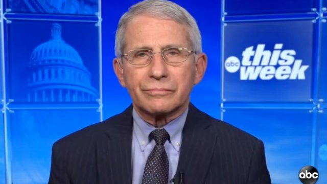 Anthony Fauci on ABC This Week on April 25