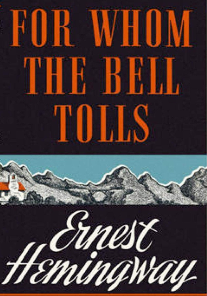 """Book cover of """"For Whom The Bell Tolls"""" by Ernest Hemingway"""